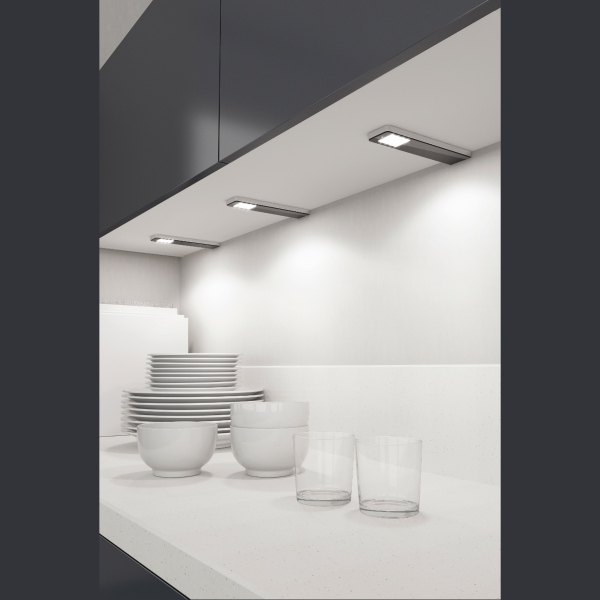 Faretti Senza Incasso.Faretto Per Libera Installazione Key Panel Di Forma E Funzione In Alluminio Senza Interruttore Luce Calda