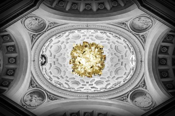 Lampada da parete soffitto veli large di slamp in opalflex
