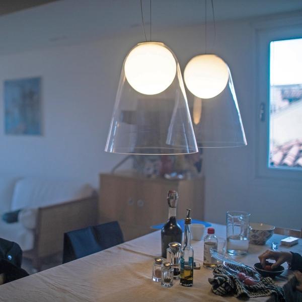 Lampada da sospensione Satellight di Foscarini in vetro soffiato e ...