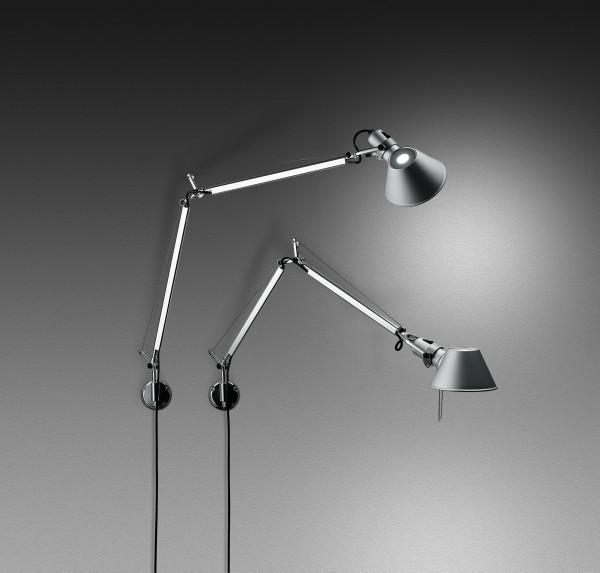 Lampada Da Parete Tavolo Terra Tolomeo Led Di Artemide In Alluminio Acciaio Solo Corpo Senza Supporto A004800 Artemide