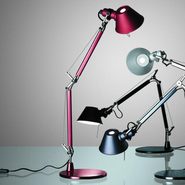 Lampada Artemide Da Tavolo.Lampada Da Tavolo Parete Tolomeo Micro Di Artemide In Alluminio Acciaio Solo Corpo Senza Supporto