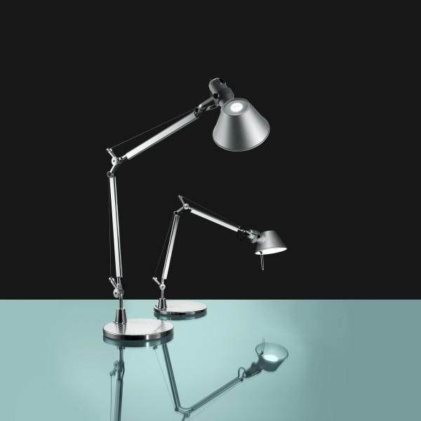Lampada Artemide Da Tavolo.Lampada Da Tavolo Parete Tolomeo Mini Di Artemide In Alluminio Acciaio Solo Corpo Senza Supporto