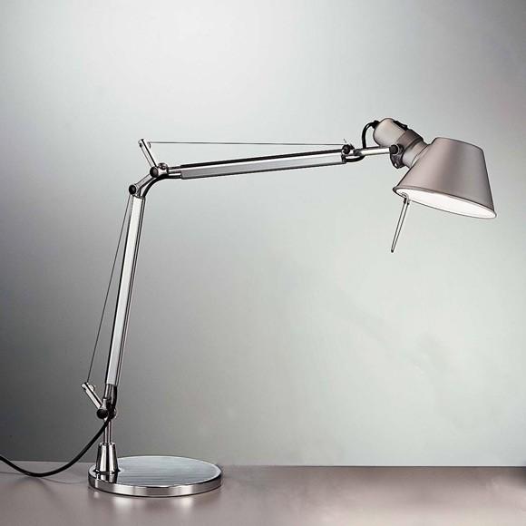 Lampada Da Tavolo Tolomeo Mini Led Di Artemide In Alluminio Acciaio Solo Corpo Senza Supporto A005600 Artemide